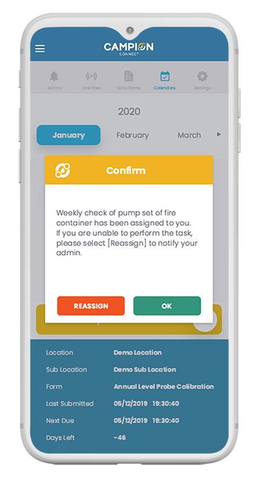 Campion Connect Mobile App Mockup
